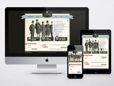 Dry Cleaners Responsive Website Design